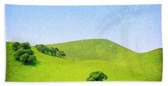 Hand Towel featuring the photograph California Hillside by Melanie Alexandra Price