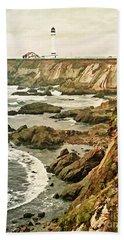 California - Point Arena Coastline Bath Towel