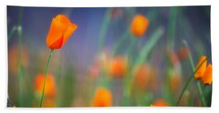 California Poppies 2 Hand Towel