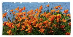 California Poppies By Richardson Bay Bath Towel