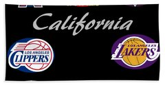 California Professional Sport Teams Collage  Bath Towel