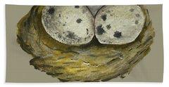 California Quail Eggs In Nest Bath Towel