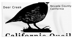 California Quail - White Bath Towel