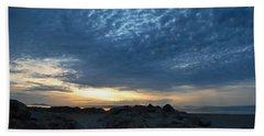 California Rocky Beach Sunset  Bath Towel