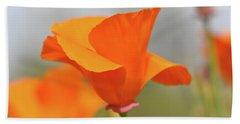 California State Poppy Macro Hand Towel