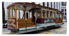 Bath Towel featuring the photograph California Street Cable Car by Steven Spak