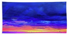 Hand Towel featuring the painting California Sunrise by Joan Reese