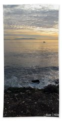 Hand Towel featuring the photograph California Sunset by Joan  Minchak