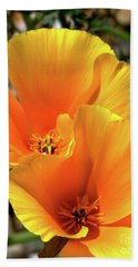 Hand Towel featuring the photograph Californian Poppy by Baggieoldboy