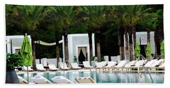 Caliza Pool In Alys Beach Bath Towel