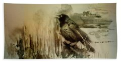 Call Of The Grackle Hand Towel
