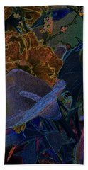 Bath Towel featuring the digital art Calla Lily Abstract by Stuart Turnbull