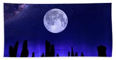 Callanish Stones Under The Supermoon.  Bath Towel