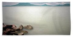 Calm At The Lake Hand Towel by Odon Czintos