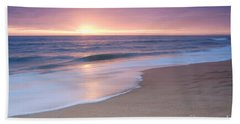 Calm Beach Waves During Sunset Bath Towel