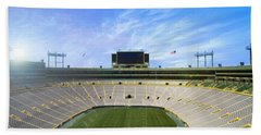 Bath Towel featuring the photograph Calm Before The Game by Joel Witmeyer