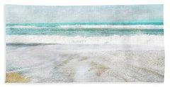 Calm Coast- Art By Linda Woods Hand Towel