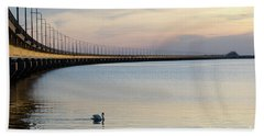 Calm Evening By The Bridge Hand Towel