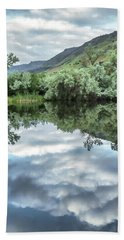 Calm Pond - Cloud Reflections Hand Towel