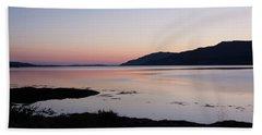 Calm Sunset Loch Scridain Hand Towel