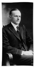 Calvin Coolidge Bath Towel