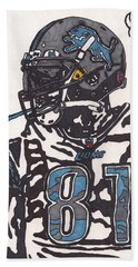 Calvin Johnson Jr 3 Hand Towel by Jeremiah Colley