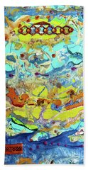 Hand Towel featuring the painting Calypso by Desiree Paquette