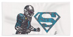 Cam Newton Superman Edition Bath Towel by Jeremiah Colley