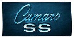 Bath Towel featuring the photograph Camaro S S Emblem by Mike McGlothlen