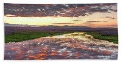 Camas Spring Sunrise Bath Towel by Leland D Howard