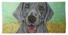 Camden The Weimaraner Bath Towel