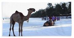 Camel On Beach Kenya Wedding 5 Hand Towel