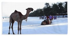 Camel On Beach Kenya Wedding 5 Bath Towel