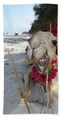 Camel On Beach Kenya Wedding2 Hand Towel