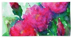 Camellia Abstract Hand Towel