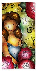 Lady Camellia Hand Towel