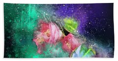 Camellias In A Galaxy Far Far Away Bath Towel