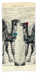Camels Married Couple Bath Towel