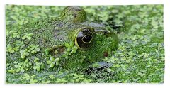 Camo Frog Hand Towel by Ronda Ryan