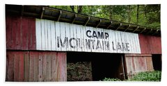 Camp Mountain Lake Horse Stables - Vintage America Bath Towel