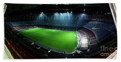 Camp Nou At Night Hand Towel