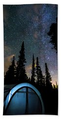 Hand Towel featuring the photograph Camping Star Light Star Bright by James BO Insogna