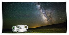 Camping Under The Stars Hand Towel