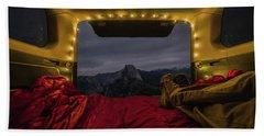 Camping Views Hand Towel by Alpha Wanderlust