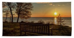 Campus Sunset Bath Towel