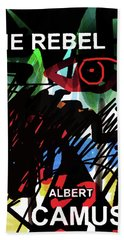 Camus The Rebel  Poster Hand Towel