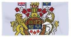 Canada Coat Of Arms Bath Towel by Movie Poster Prints