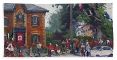 Canada Day Parade At Glen Williams  On Hand Towel