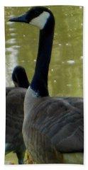 Canada Goose Edge Of Pond Hand Towel