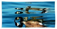 Canada Goose Reflected Bath Towel by Karen Molenaar Terrell